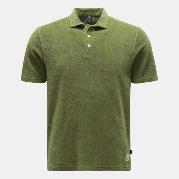 04651 Sylt Beach Poloshirt - Baumwolle in Taylor Fit - Grau