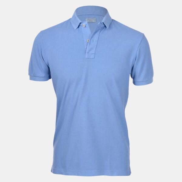 Gran Sasso Poloshirt - Pique Baumwolle Slim Fit - Coral